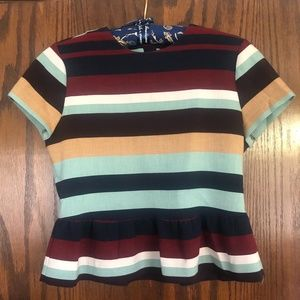 Striped Zara Peplum Blouse